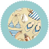 Bikinis, Badeanzüge, Tankinis, Strandkleider, Strandtücher